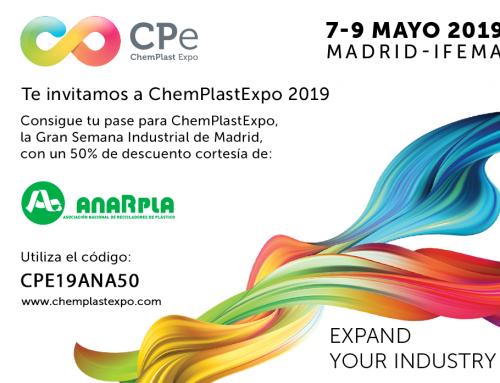 ANARPLA representará al sector del reciclado mecánico de plástico en el ChemPlastExpo